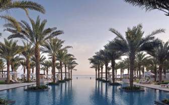 The Pool Lined with Palm Trees