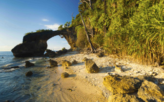 Archway on the beach
