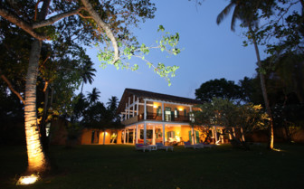 The Last House at night, luxury hotel in Sri Lanka