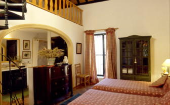 Bedroom at Hacienda San Rafael, luxury hotel in Spain