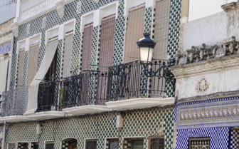 The Tiled Mosaic Facades of Old Houses in Spain