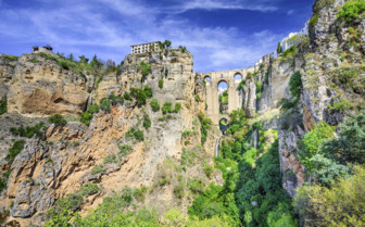 A Bridge Between Mountains in Ronda Province