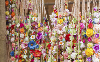 Flower Garlands in a Shop in Ibiza