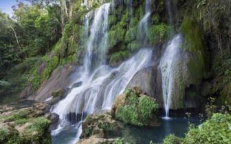 A waterfall in Pinar Del Rio