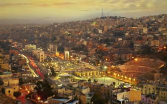 Bustling Amman, Jordan