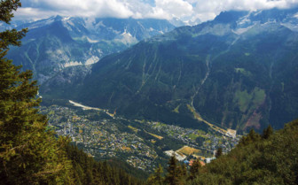 Aerial view of Chamonix