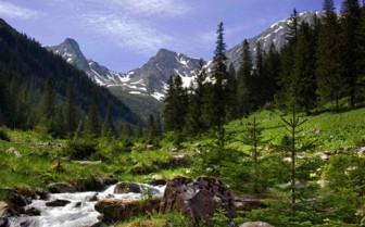 Carpathian Mountains snowcapped