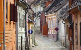 Traditional Romanian street