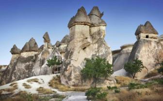 Caves of Cappadocia in hills