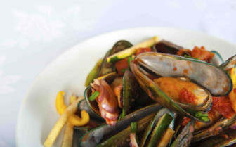 Green Lipped Mussel Dish