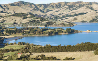 The Bay and Mountains of Akaroa