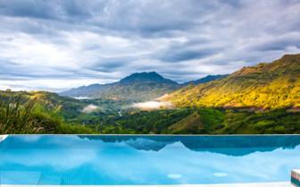 View from  Hacienda Buenavista pool
