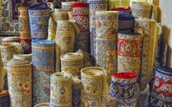 Rolled Rugs in Esfahan