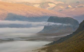 Sarek National Park in the Mist