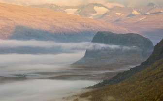 Sarek National Park in the Mist