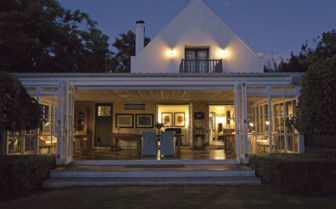 Owners Cottage by night