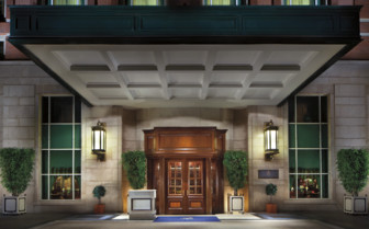 The Entrance to the Ritz-Carlton