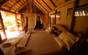 Double bedroom at Serra Cafema, luxury camp in Namibia