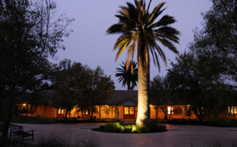 The Hotel Entrance by Night
