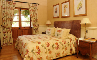 A Flowered Guestroom at the Vineyard