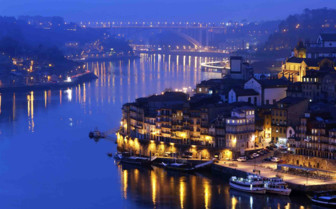 Porto and Bridge by night