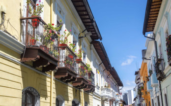 Colonial Balconies in Ecuador