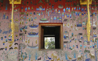 Mosaic in Wat Xieng Thong