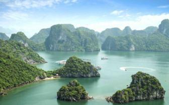 The blues of Halong bay