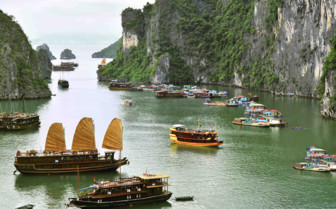 Typical Scene of Halong Bay