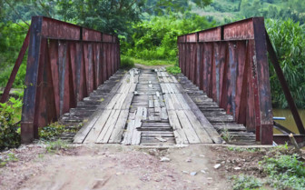 A Rusty Bridge in Chiang Mai