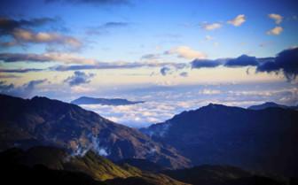 Cloudy Mountain Range