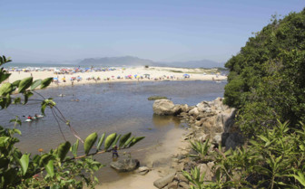 Beach view of Florianopolis