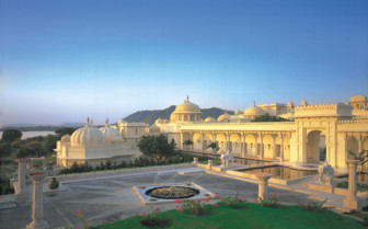 The exterior at Oberoi Udaivilas hotel