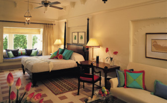 Suite at Oberoi Udaivilas, luxury hotel in India