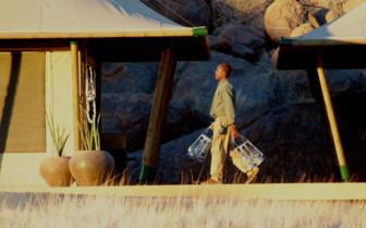 Lanternman at Wolwedan Boulders, luxury camp in Namibia