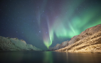 The Aurora Borealis over Northeren Norway