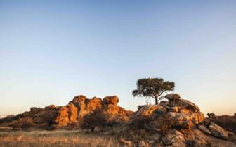 Sunset over the Makgadikgadi Sunset