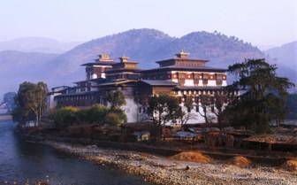Waterfront Monastery - Bhutan