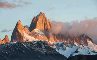 Peak of Mountain in sunglight