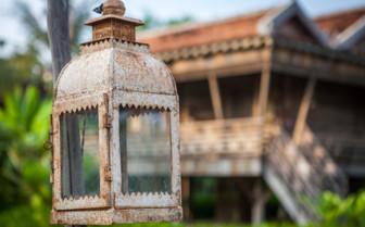 Tea Light Holder Outside a Lodge