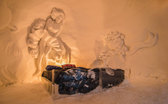 Bedroom at Kirkenes Snowhotel