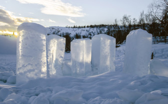 Blocks of Ice in Northern Norway