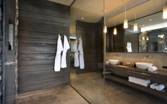 Bathroom with Dressing Gowns Hanging