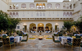 Dining area at the hotel courtyard