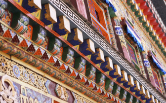 Colourful Temple Detail
