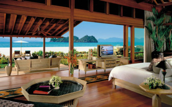 A bedroom with Balcony and Ocean Views