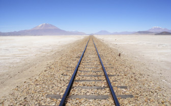 Train Tracks Leading to Chile