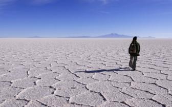 Walking in the Salt Flats