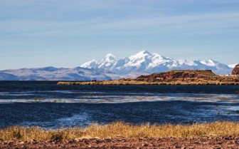 Lake with Snow-Capped Andes in the Distance
