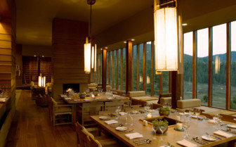 Dining with views over Bhutan's Countryside